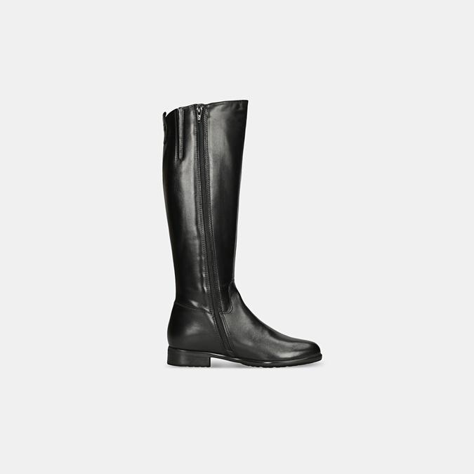 Černé kožené kozačky bata, černá, 594-6675 - 15