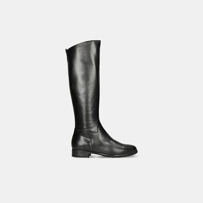 Černé kožené kozačky bata, černá, 594-6675 - 13