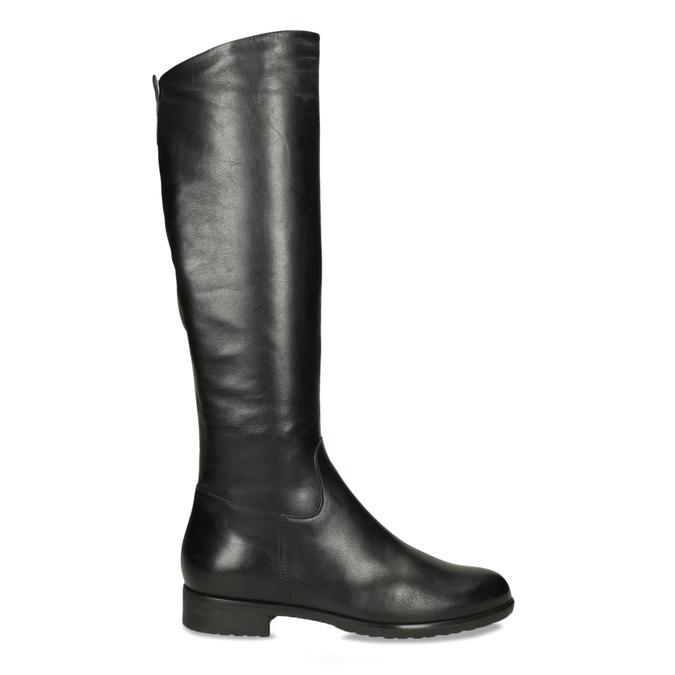 Černé kožené kozačky bata, černá, 594-6675 - 19