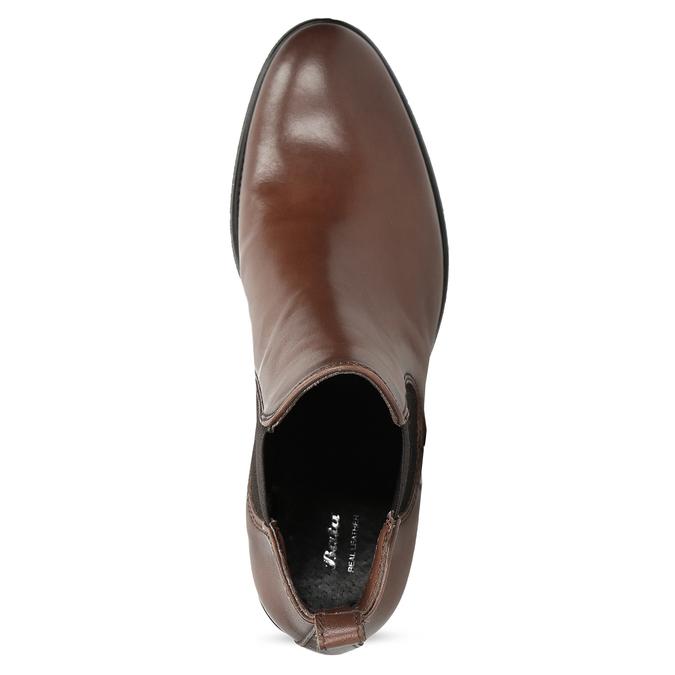 Kožené dámské Chelsea na podpatku bata, hnědá, 694-4667 - 17