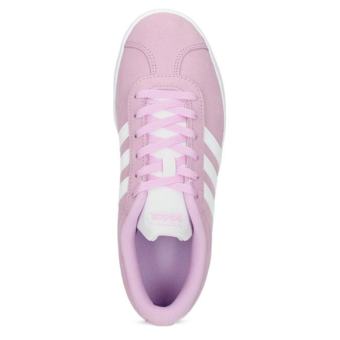 Dětské kožené tenisky růžové adidas, růžová, 403-5361 - 17