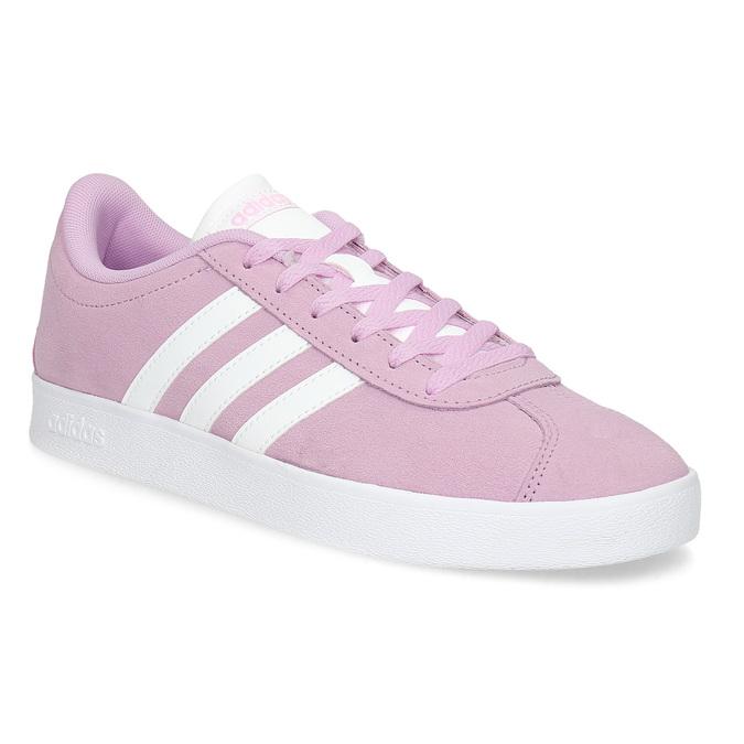 Adidas Dětské kožené tenisky růžové - Tenisky  9956a68ac2