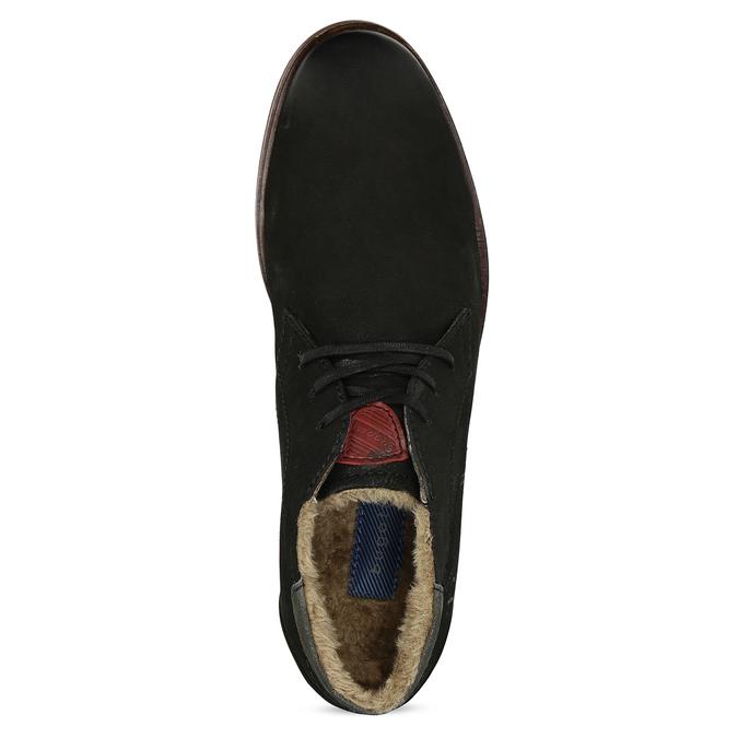 Zimní pánská kožená obuv černá bugatti, černá, 829-6049 - 17