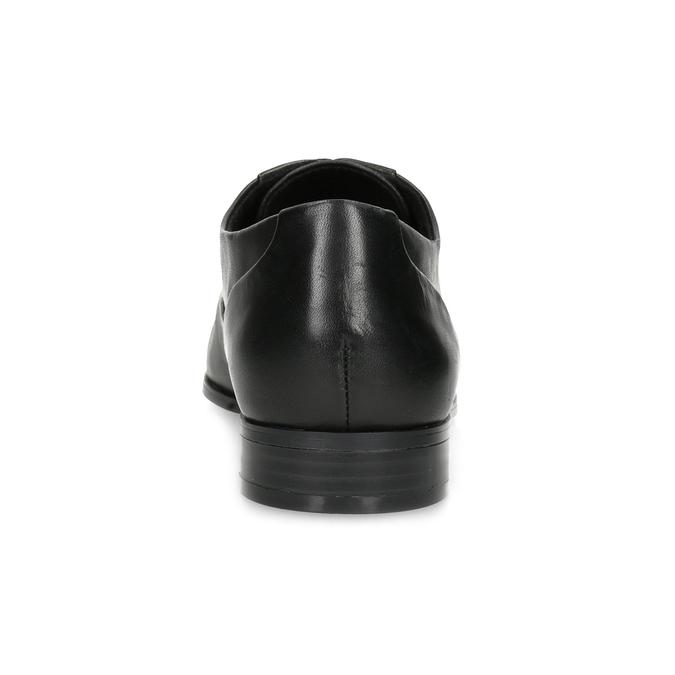 Dámské kožené černé Oxfordky bata, černá, 524-6668 - 15