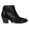Kožená kotníčková obuv ve western stylu bata, černá, 696-6663 - 19