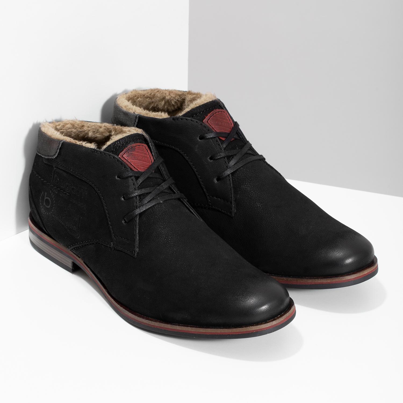 5a12d51fafc Bugatti Zimní pánská kožená obuv černá - Muži