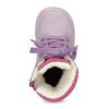 Dětská kožená kotníčková obuv s kožíškem mini-b, fialová, 296-9601 - 17