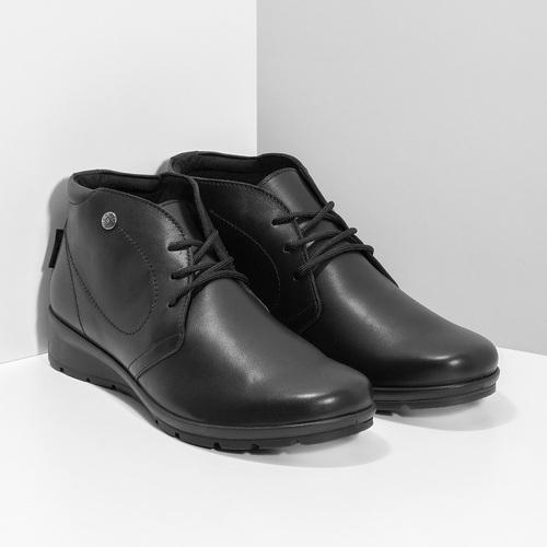 Kožená dámská kotníčková obuv comfit, černá, 594-6707 - 26