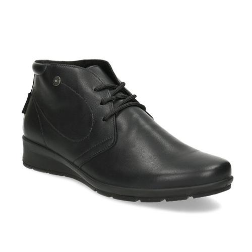 Kožená dámská kotníčková obuv comfit, černá, 594-6707 - 13