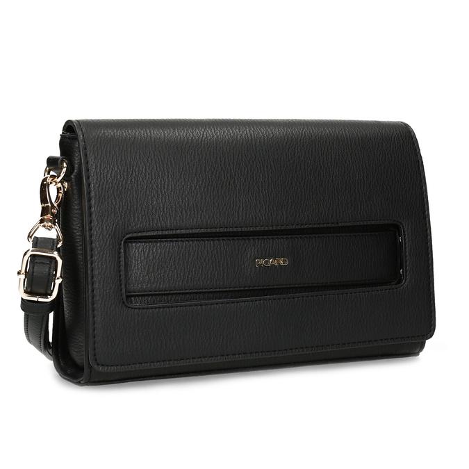 Černá dámská kabelka s květinami picard, černá, 961-6040 - 13