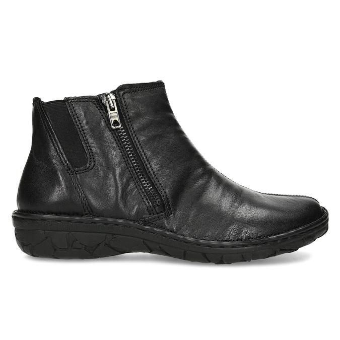 Dámská kotníčková zimní obuv kožená bata, černá, 594-6708 - 19