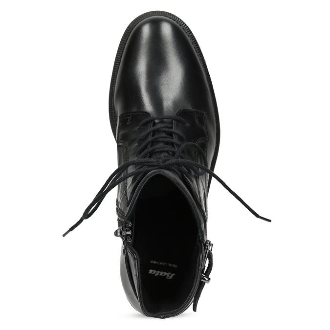Zimní kotníčková obuv s přezkou bata, černá, 594-6674 - 17
