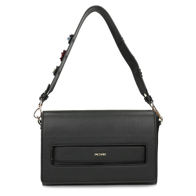 Černá dámská kabelka s květinami picard, černá, 961-6040 - 26