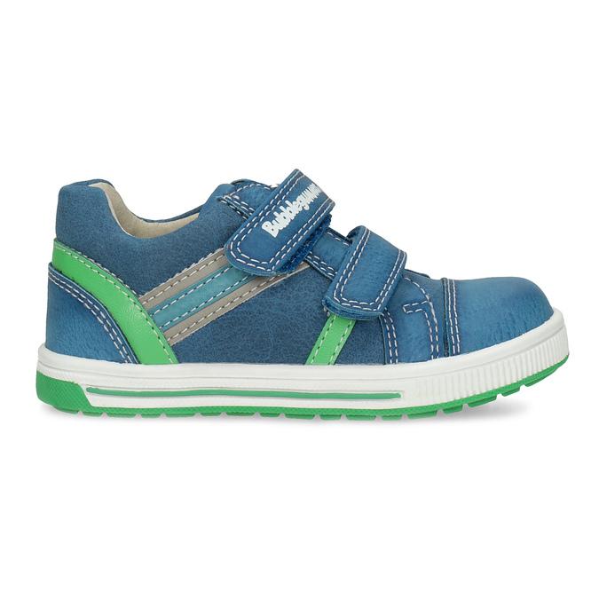 Modré dětské tenisky se zeleným detailem bubblegummers, modrá, 111-9625 - 19