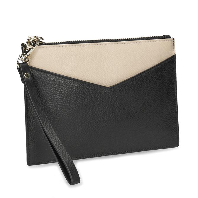 Kožená kapsička s poutkem bata, černá, 944-6222 - 13
