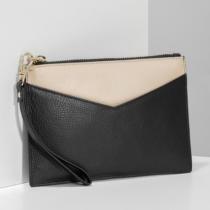 Kožená kapsička s poutkem bata, černá, 944-6222 - 17