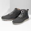 Kotníčková kožená pánská obuv s prošitím weinbrenner, šedá, 846-6719 - 16