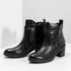 Dámská kotníčková zimní obuv na podpatku bata, černá, 694-6672 - 16