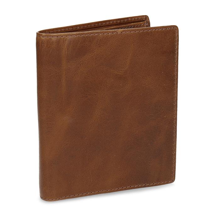 Hnědá kožená pánská peněženka bata, hnědá, 944-3217 - 13