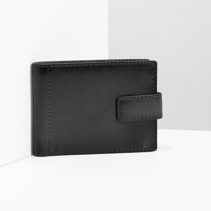 Kožená černá pánská peněženka bata, černá, 944-6219 - 17