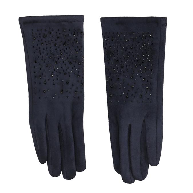 Tmavě modré rukavice s kamínky bata, modrá, 909-9692 - 26