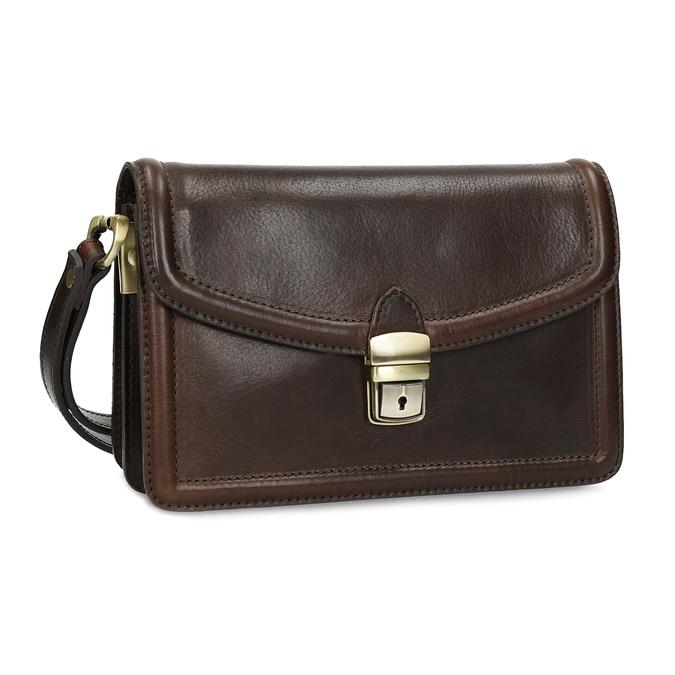 Kožená pánská taška do ruky bata, hnědá, 964-4315 - 13