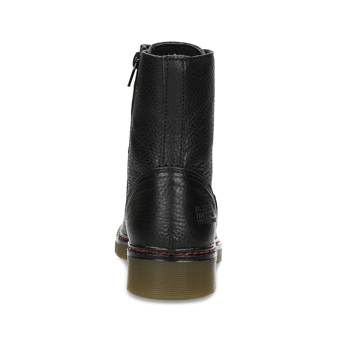Černá dámská kožená obuv v Chelsea stylu bata, černá, 596-6732 - 15