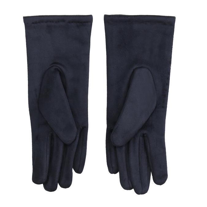Tmavě modré rukavice s kamínky bata, modrá, 909-9692 - 16