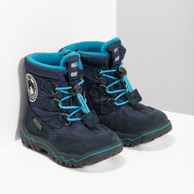 Dětské zimní boty modré bubblegummers, modrá, 199-9604 - 26