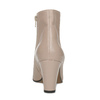 Krémová kožená kotníčková obuv na podpatku bata, béžová, 796-8654 - 15