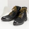 Zimní kožená pánská kotníčková obuv bata, černá, 896-6736 - 16