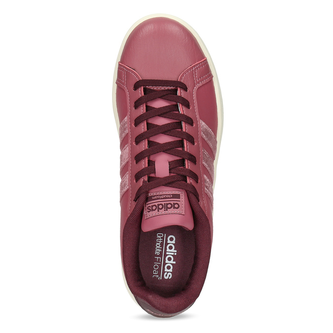 Růžové dámské ležérní tenisky adidas, červená, 501-5101 - 17