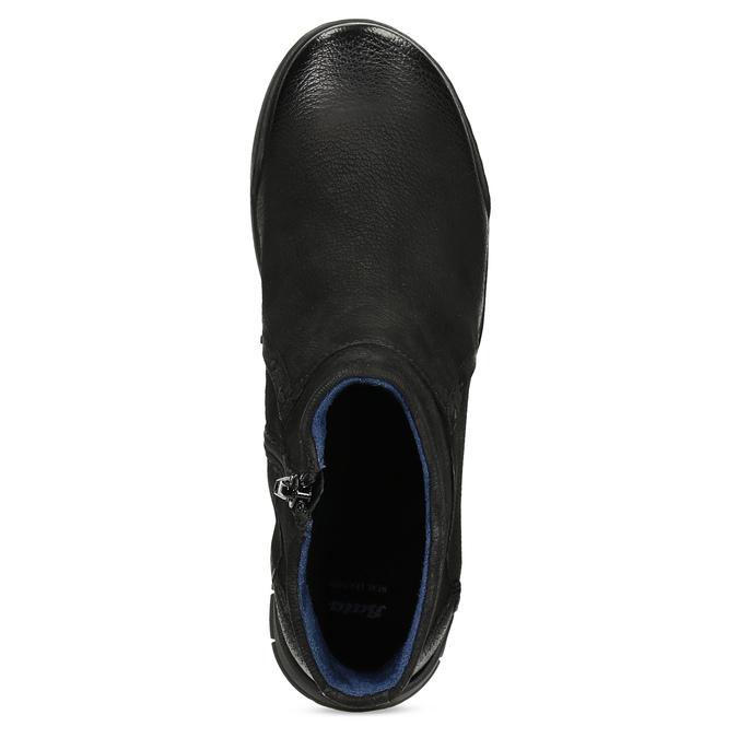 Kožená dámská kotníčková obuv bata, černá, 596-6706 - 17