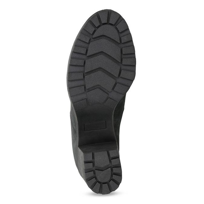 Kožená kotníčková obuv na stabilním podpatku bata, černá, 796-6652 - 18