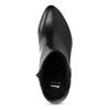 Kožená černá kotníčková obuv na podpatku bata, černá, 794-6656 - 17