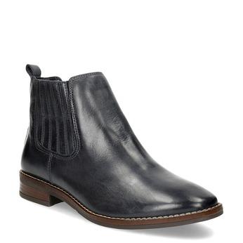 Modrá kožená dámská obuv v Chelsea stylu bata, modrá, 594-9682 - 13