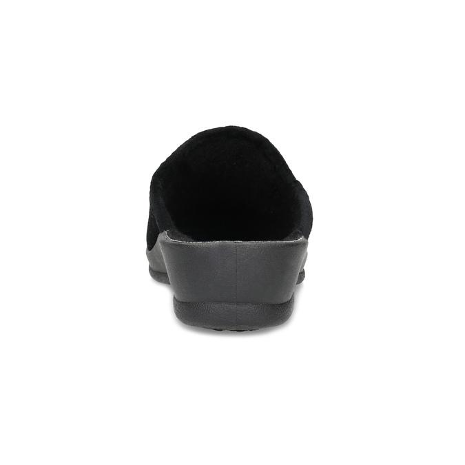 Dámské domácí nazouváky černé bata, černá, 579-6631 - 15