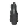 Dámská kožená kotníčková obuv se šněrováním bata, černá, 796-6653 - 15