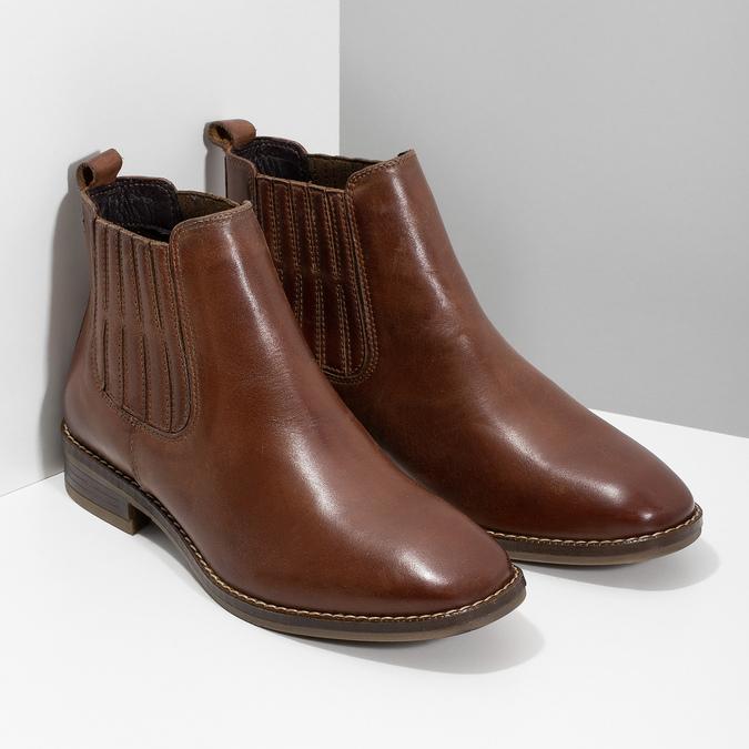 Kožená dámská obuv v Chelsea stylu bata, hnědá, 594-4682 - 26
