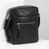 Pánská kožená Crossbody taška bata, černá, 964-6311 - 17