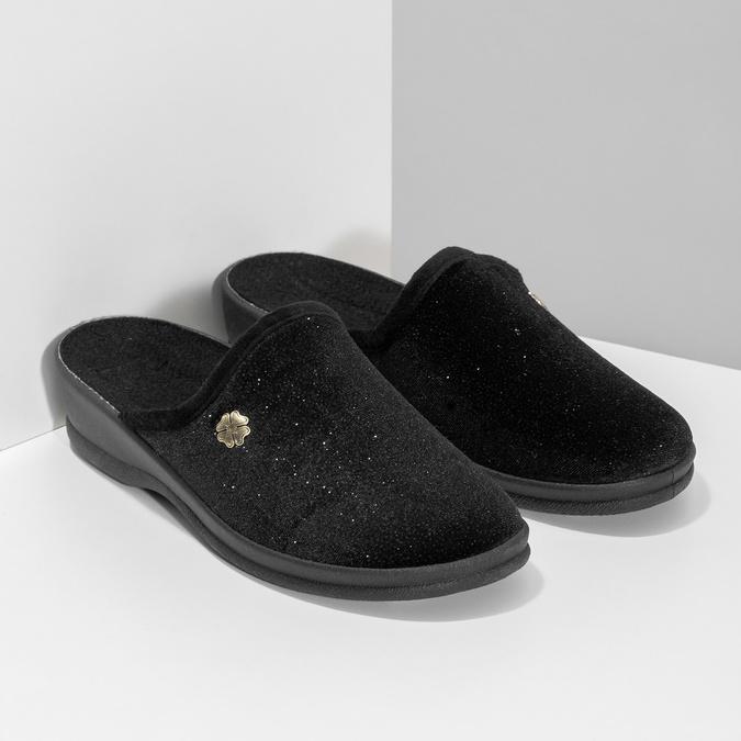 Dámské domácí nazouváky černé bata, černá, 579-6631 - 26