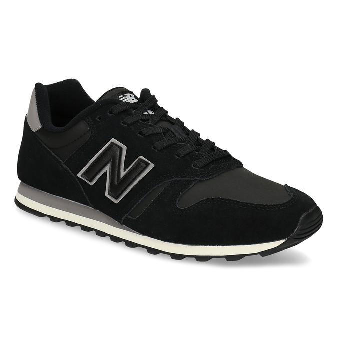 Černé pánské tenisky z broušené kůže new-balance, černá, 803-6137 - 13