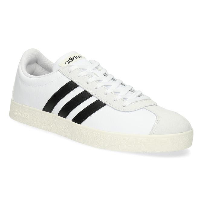 Bílé pánské ležérní tenisky adidas, bílá, 801-1146 - 13