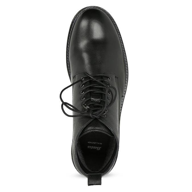Černá kožená kotníčková pánská obuv bata, černá, 894-6721 - 17