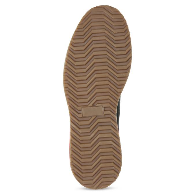Kožená kotníková pánská zimní obuv bata, modrá, 896-9716 - 18