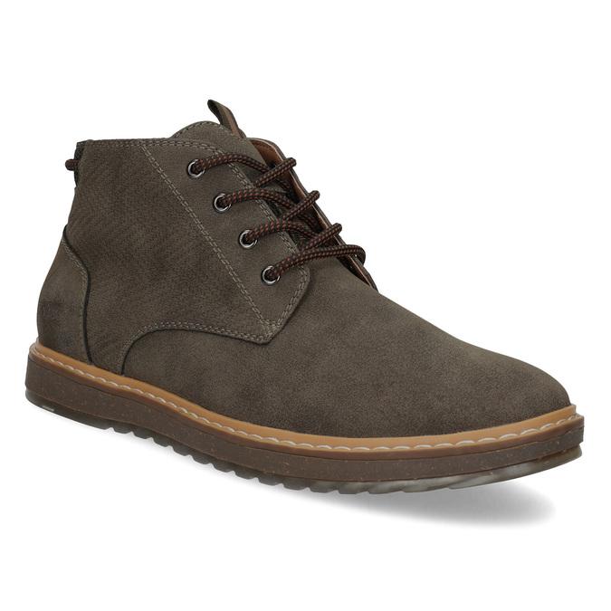 Kotníčková pánská obuv s prošitím bata-red-label, hnědá, 821-4605 - 13