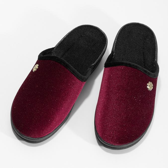 Dámské domácí nazouváky červené bata, červená, 579-5631 - 16