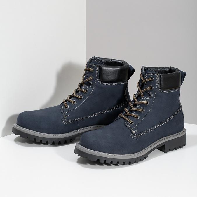 Tmavě modrá dámská kotníčková obuv weinbrenner, modrá, 596-2728 - 16