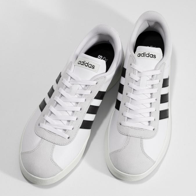 Bílé pánské ležérní tenisky adidas, bílá, 801-1146 - 16