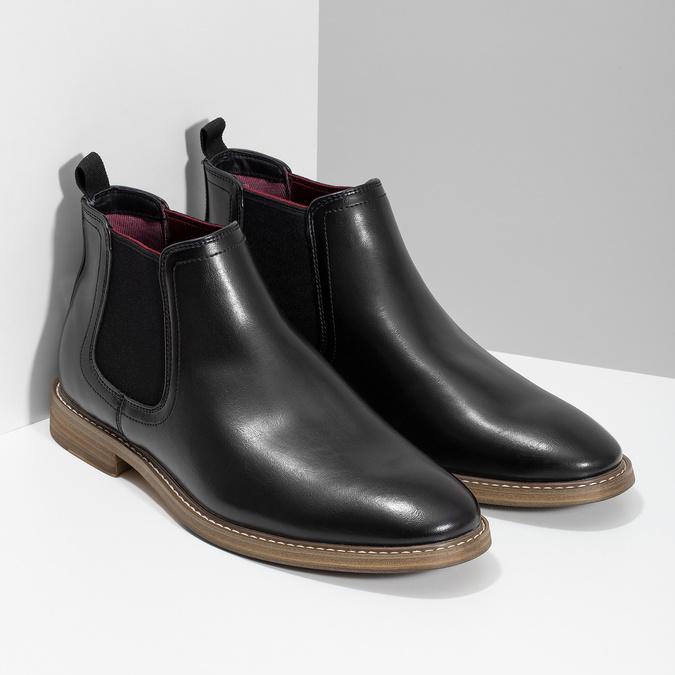 Černá pánská Chelsea obuv bata-red-label, černá, 821-6611 - 26